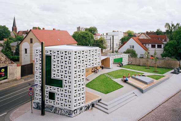 open air library germany Open Air Library in Magdeburg, Germany