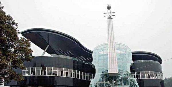 piano house 600x304 14 Futuristic Building Designs in China