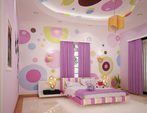 polka dots and circles themed teenage girls bedroom How to Design Your Kids Room