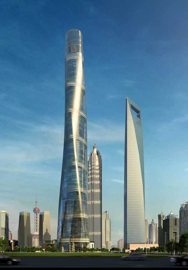 shanghai tower pirages281108 0 14 Futuristic Building Designs in China