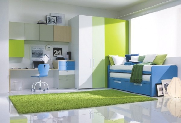 teenage bedroom 02 600x409 Modern Look for Teenagers Bedroom by Dielle