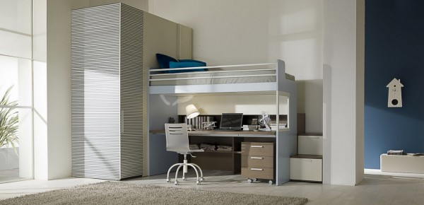 teenage bedroom 07 600x290 Modern Look for Teenagers Bedroom by Dielle