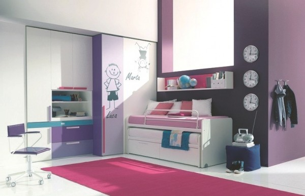 teenage bedroom 11 600x386 Modern Look for Teenagers Bedroom by Dielle