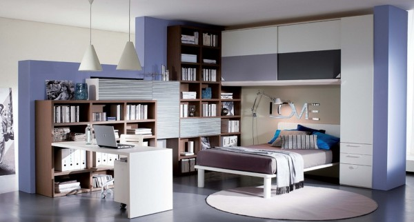 teenage bedroom 16 600x322 Modern Look for Teenagers Bedroom by Dielle