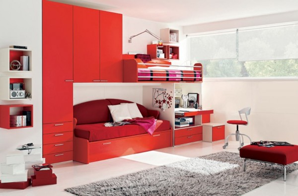 teenage bedroom 19 600x394 Modern Look for Teenagers Bedroom by Dielle