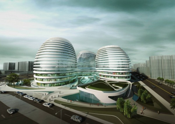 th 65d1300db123ce22f6e2569fb36764f8 1449 sohoc rend 01 600x428 14 Futuristic Building Designs in China