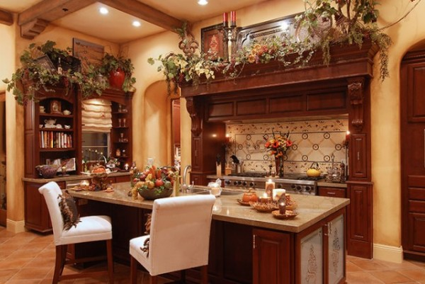 How to achieve the elegant tuscan style for your kitchen for Tuscan kitchen designs photo gallery