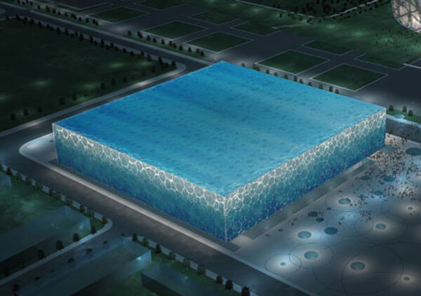 water cube 14 Futuristic Building Designs in China