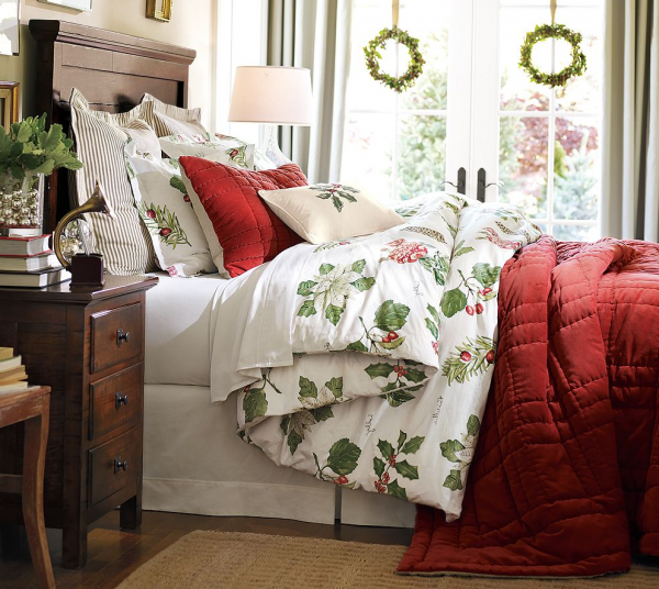 winter bedding holiday duvet covers 600x536 Elegant and Stylish Winter Bedding Ideas