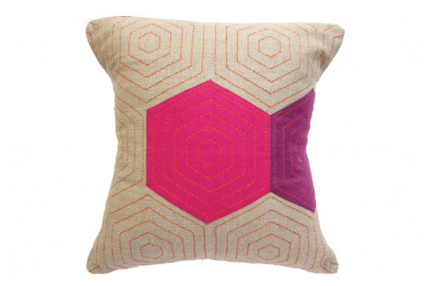 38e 600x406 Handmade Vibrantly Coloured Cushions