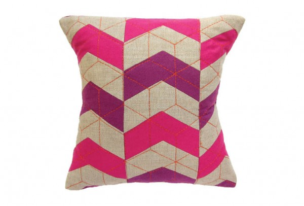 38f 600x406 Handmade Vibrantly Coloured Cushions