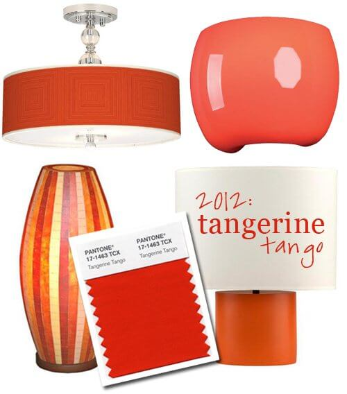 4532.pantone color 2012 tangerine lighting.jpg 550x0 The Hot New Color for 2012 in Interior Design