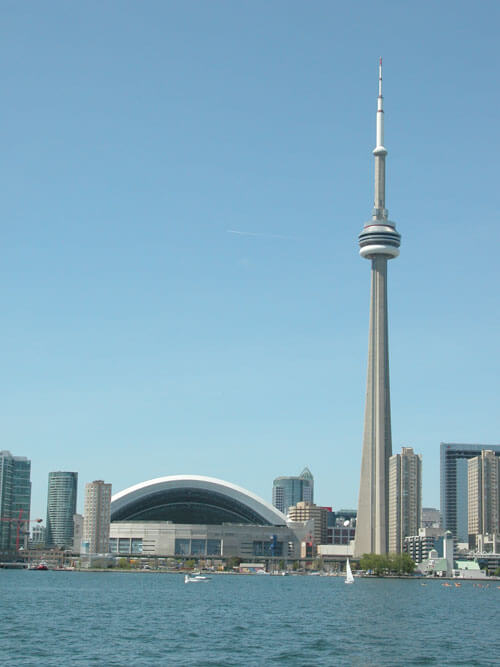 CN Tower and Rogers Centre  100 Most Famous Landmarks Around the World