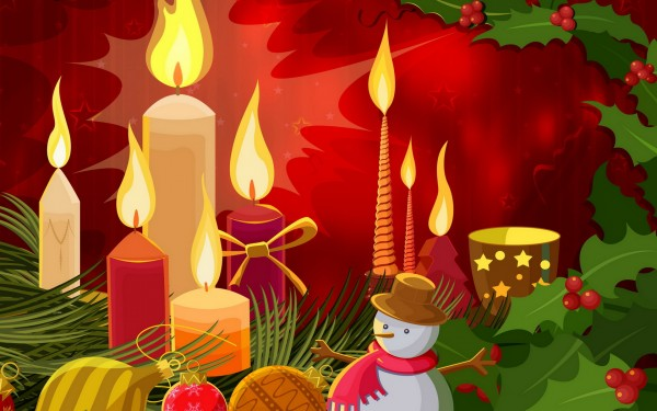Christmas candle decoration 4 600x375 Candle Making and Decorating Ideas for Christmas