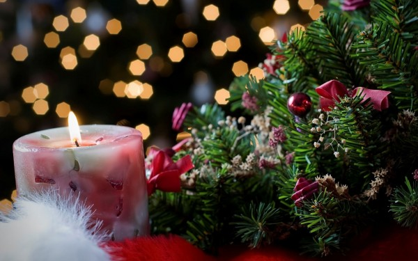 Christmas candle decoration 5 600x375 Candle Making and Decorating Ideas for Christmas