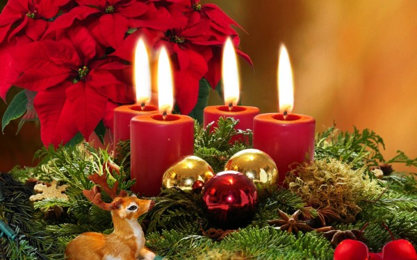 Christmas candle decoration 6 600x375 Candle Making and Decorating Ideas for Christmas