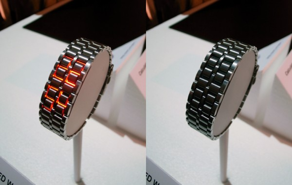 LED watch01 600x380 15 Stunning Futuristic Watches Concept Designs