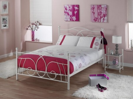 Modern Metal Bed Bedroom with Metal Beds