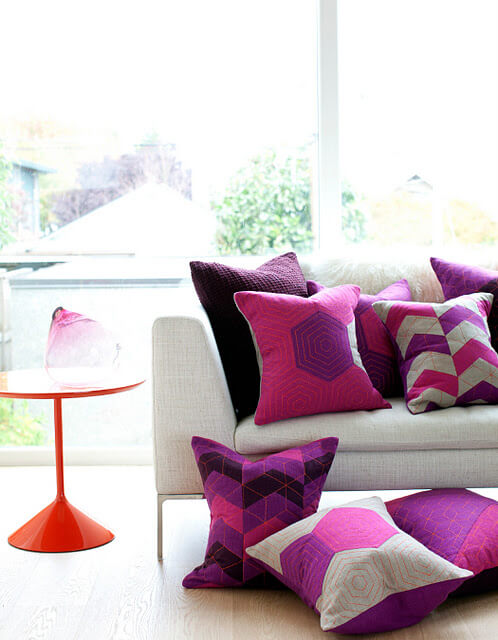 Provide Made Handmade Vibrantly Coloured Cushions