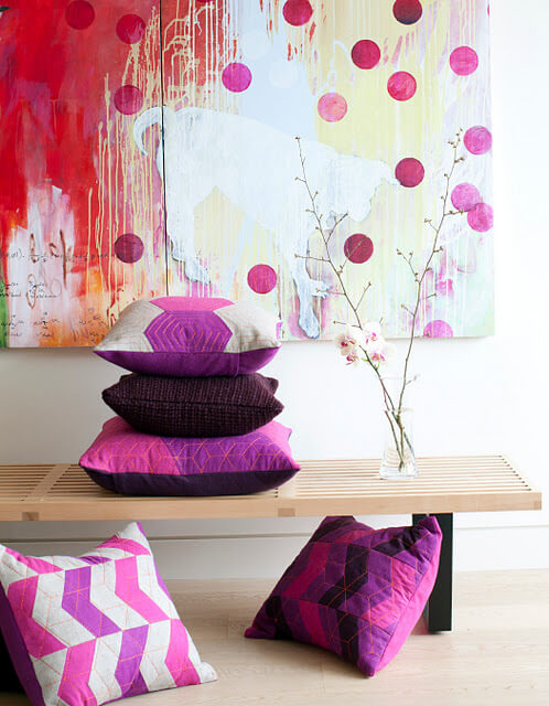 Provide Made3 Handmade Vibrantly Coloured Cushions