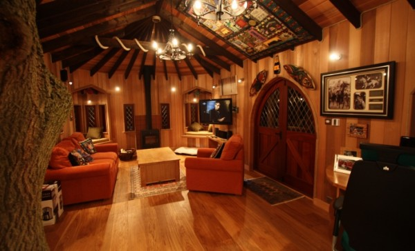 Tree House Office 3 gallery image 600x364 Outstanding Luxury Tree Houses Designs by Blue Forest