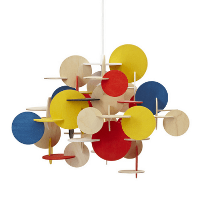 bau pendant Multi Coloured Sculptural Hanging Lamp with Geometric Shapes
