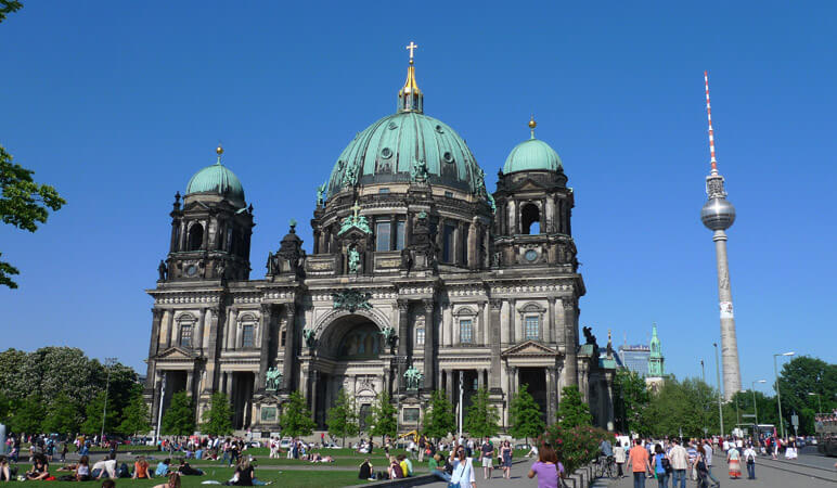 berliner dom an tv tower 100 Most Famous Landmarks Around the World