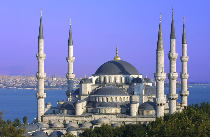 blue mosque 100 Most Famous Landmarks Around the World
