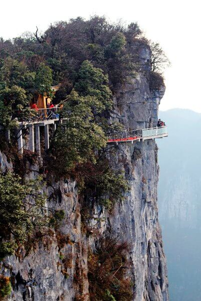 glass skywalk china Transparent Glass Skywalk in China's Tianmen Mountain Park