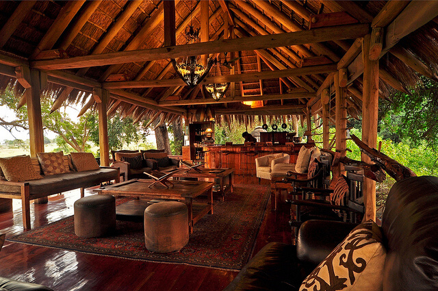 African interior design at jao camp safari resort