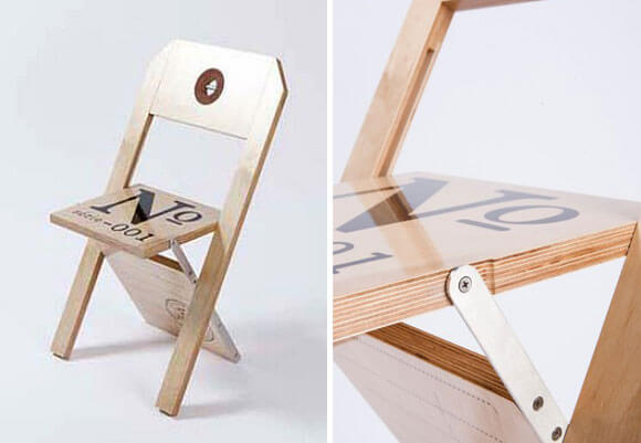 Folding Chair Displaying An Attractive Label Design