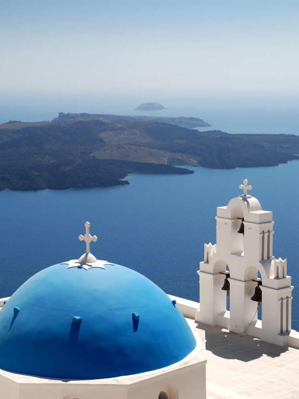 northcape2010.blogspot.com .Blue domed Church in Santorini 100 Most Famous Landmarks Around the World