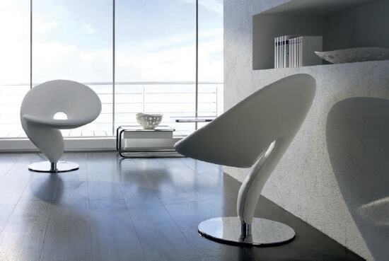 questionmark31 Cool Upholstered Chair With Very Original Shape
