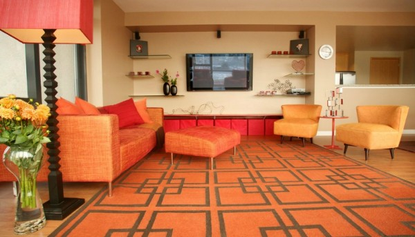 tangerine room 600x343 The Hot New Color for 2012 in Interior Design