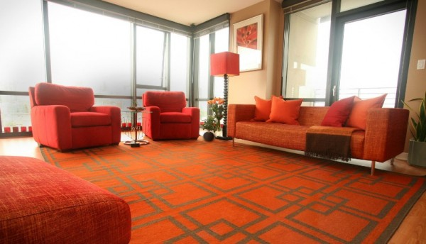 tangerine room2 600x344 The Hot New Color for 2012 in Interior Design