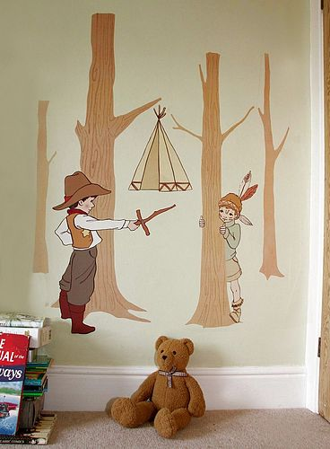 zoom 02COWBOYS Appealing Wall Stickers Ideas for Kids Bedroom