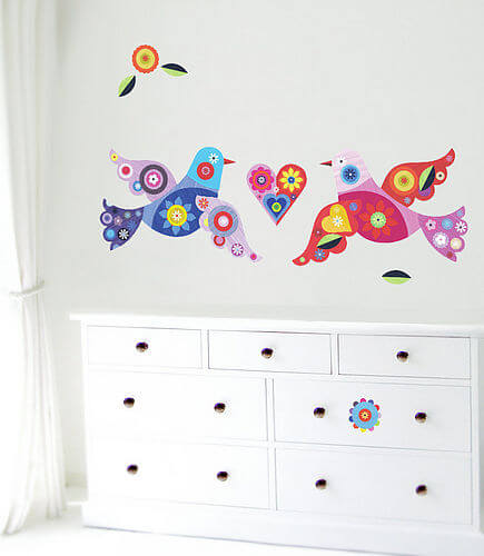 zoom BirdsMRoom Appealing Wall Stickers Ideas for Kids Bedroom