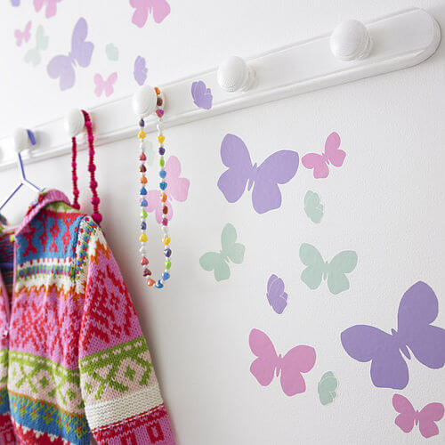 zoom Butterfly Flutter Appealing Wall Stickers Ideas for Kids Bedroom