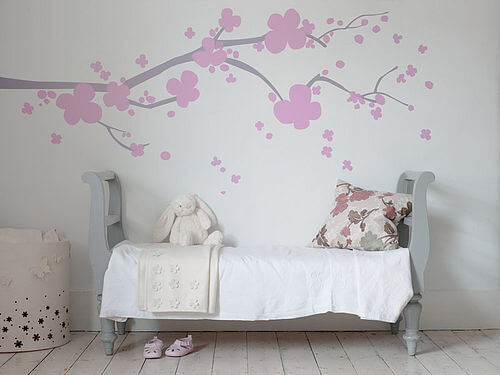 zoom Cherry blossom 4 2 Appealing Wall Stickers Ideas for Kids Bedroom
