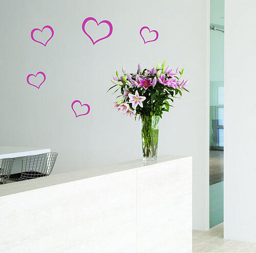 zoom HEART SET Appealing Wall Stickers Ideas for Kids Bedroom