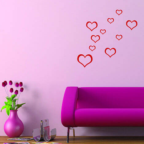 zoom Heart shapes photo Appealing Wall Stickers Ideas for Kids Bedroom