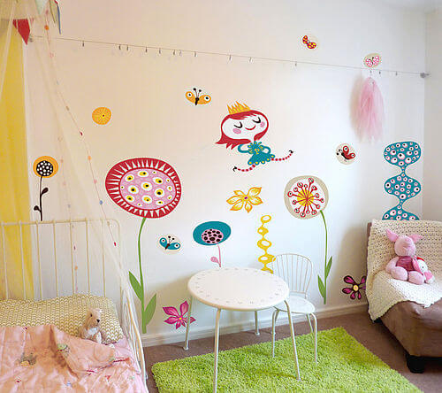 zoom InMyGardenMiaRoom Appealing Wall Stickers Ideas for Kids Bedroom