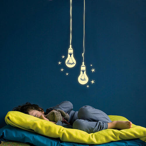 zoom Lightbulbs wall stickers Appealing Wall Stickers Ideas for Kids Bedroom