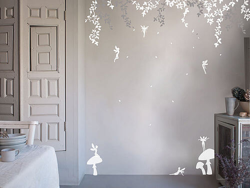 zoom Trees fairy  Appealing Wall Stickers Ideas for Kids Bedroom