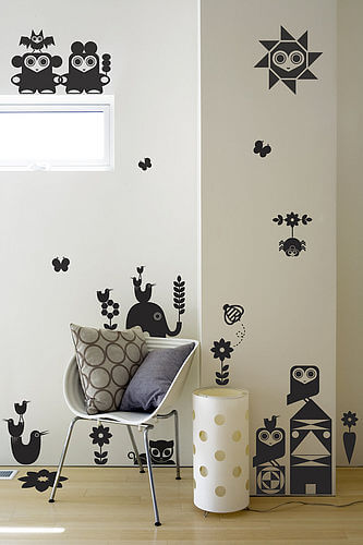 zoom animalfriendlies1 print Appealing Wall Stickers Ideas for Kids Bedroom