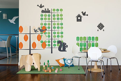 zoom boodalee trees2 print Appealing Wall Stickers Ideas for Kids Bedroom