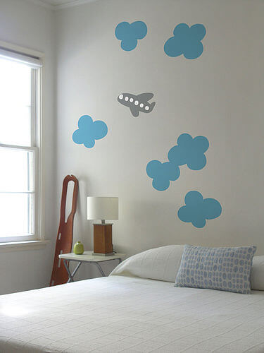 zoom cloud Appealing Wall Stickers Ideas for Kids Bedroom