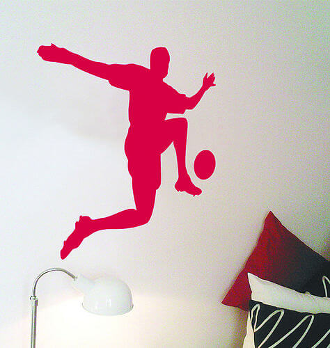 zoom footballer wall sticker Appealing Wall Stickers Ideas for Kids Bedroom