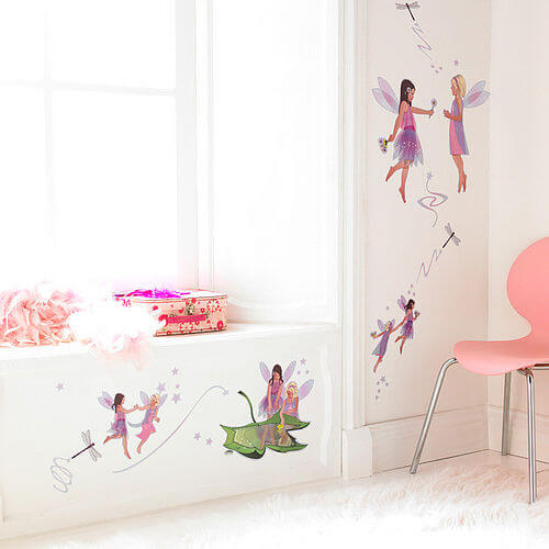 zoom frendship fairies new Appealing Wall Stickers Ideas for Kids Bedroom