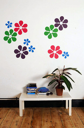 zoom new flower power Appealing Wall Stickers Ideas for Kids Bedroom